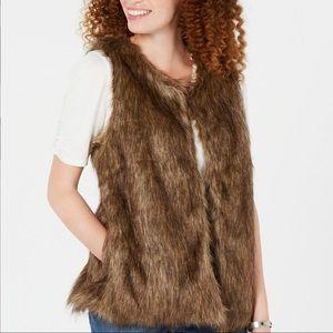 Say What? Juniors' Faux-Fur Vest Size XS